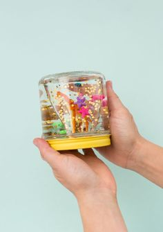 A DIY Glitter Jar for Kids / via Oh Joy!