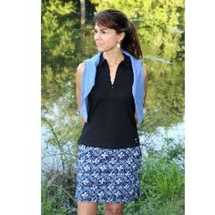 Golftini Butterfly Skort in Blue/Black