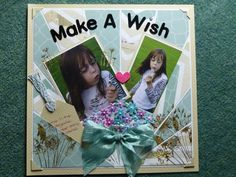Double sided papers make a sun ray, with flitter glu and gilding flakes, with woodware grasses - Make a Wish Grasses, Make A Wish, Flakes, Scrapbook Pages, Sun, Paper, Books, Lawn, Libros