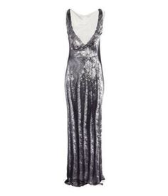 MAISON MARTIN Margiela H&M Long Sequin Print Long Maxi Dress #HMMaisonMartinMargiela #longdress