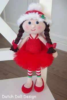 This Listing is for the PDF crochet PATTERN and NOT the actual christmas fairy !!! Isn;t she adorable? This christmas fairy is about 30