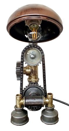 Industrial lighting  Steampunk lamp  Loft lamp  Vintage