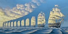 This Canadian artist creates amazing illusions that are often a little strange. So join me as I take a look at ten crazy paintings by Robert Gonsalves Optical Illusion Paintings, Optical Illusions, Rene Magritte, Max Ernst, Robert Gonsalves, Sense Of Sight, Modern Surrealism, Magic Realism, Cool Pictures