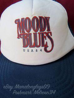 RARE Vintage Moody Blues Band USA Tour 1984 Mesh Snapback Trucker Hat Cap Rock #Unbranded #TruckerHat
