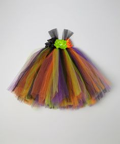 Making this for my girlies and dolls..Look what I found on #zulily! Orange & Green Princess Tutu Dress - Infant, Toddler & Girls by Bride and Babies #zulilyfinds