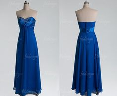 royal blue prom dress long prom dress sweetheart prom by fitdesign, $126.00
