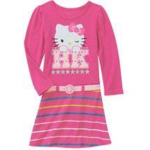 Walmart: Hello Kitty Baby Girls' Knit Belted Dress