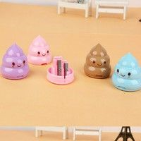 Inventive Apontador Kawaii Shit Pencil For Sharpener Shape Cutter Knife Double Orifice Pole Piece Promotional Originality Gift Stationery Fashionable Patterns Pencil Sharpeners Pens, Pencils & Writing Supplies