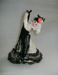 Vintage Klumpe Patentado Barcelona Dancing Cloth Doll Made IN Spain W Tags | eBay
