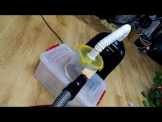 Using a cyclone vacuum cleaner there is almost no need for a paper bag. The large dirt particles are stored in an additional location and they don't go direc. Vacum Cleaner, Cheap Vacuum, Dust Collector, Vacuums, Woodworking, Good Things, Workshop Ideas, Youtube, Technology