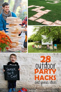 Party Hacks for the outdoor gathering - with Party Hacks, Diy Party, Party Gifts, Party Ideas, Grad Gifts, Fun Ideas, Creative Ideas, Birthday Activities, Party Activities