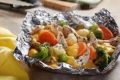 VELVEETA® Easy Chicken Campfire Packs