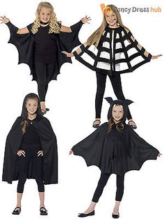 Kids #halloween black bat spider cape cloak boys #girls #fancy dress costume chil  sc 1 st  Pinterest & Create oh la la: DIY Bat Costume | Gör-det-själv: Fladdermusdräkt ...