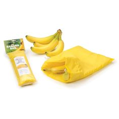 The Banana Bag helps keep bananas fresh and delicious for up to 2 weeks. When kept in the refrigerator, the Banana Bag provides just the right amount of insulation and air needed to protect bananas and slow down the ripening process. Food Storage, Bag Storage, Kitchen Storage, Banana Storage, Keep Bananas Fresh, Kitchen Helper, Kitchen Gadgets, Kitchen Stuff, Kitchen Ware