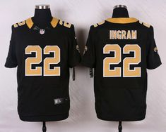 9b978a341 Men s NFL New Orleans Saints  22 Ingram Black Elite Jersey from http