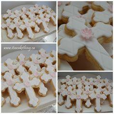 Cross Sugar Cookies - by itsacakething @ CakesDecor.com - cake decorating website