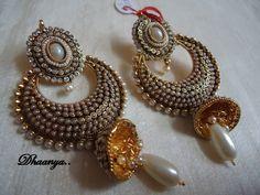 Kundan Bali Earring-Jewellery-Dhaanya