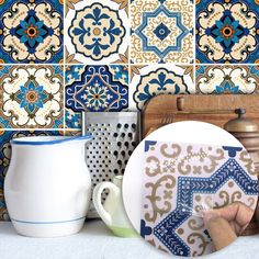 Cheap tile stickers, Buy Quality stickers stickers directly from China arabic stickers Suppliers: Funlife Moroccan Tiles PVC Waterproof Self adhesive Wallpaper Furniture Bathroom DIY Arab Tile Sticker Bathroom Wall Stickers, Floor Stickers, Tile Decals, Cheap Wall Stickers, Wall Stickers Murals, Bathroom Art, Wall Decal, Nursery Stickers, Window Stickers