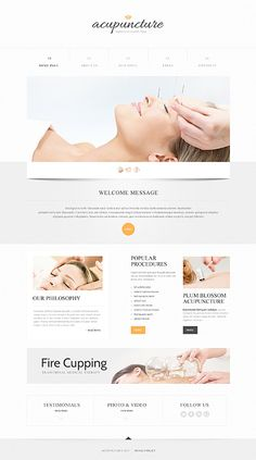 Template 45866 - Acupuncture Health  Responsive Website Template