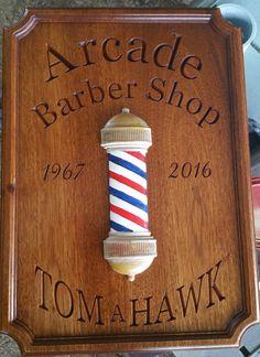 Custom Engraved Barbershop Sign/Plaque by greencottagedesign