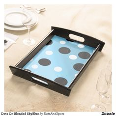 Dots On Blended SkyBlue Food Trays
