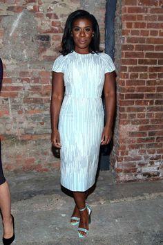 "Uzo Aduba at Christian Siriano | 13 Times The Cast Of ""Orange Is The New Black"" Won Fashion Week"
