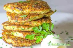 Ketogenic Zucchini and Parmesan Fritters