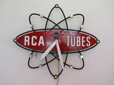 @Nothing But Vintage  you will love this board, some awesome interior items! 1950s RCA Atomic Logo Clock