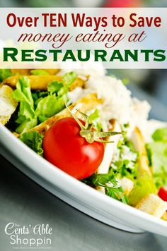 Over TEN Ways to Save Money Eating Out at Restaurants