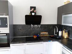 Antracit kuchynská linka - BMV Kuchyne
