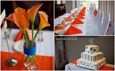 Our fall bride and groom's Florida Gator dream wedding! Photos by Marah Grant Photography. marahgrant.com