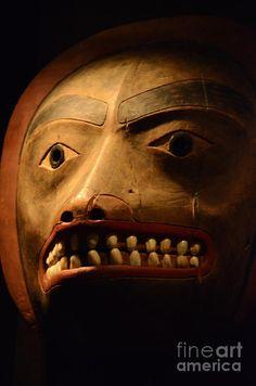 Haida Carved Wooden Mask 1 Photograph  - Haida Carved Wooden Mask 1 Fine Art Print