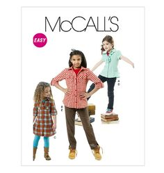 Items similar to McCall's Children's /Girls' Tops, Dress and Pants Pattern 6389 on Etsy Pants Pattern, Top Pattern, Mccalls Sewing Patterns, Dress Patterns, Girl Top Dress, Paper Child, Discount Handbags, Purple Sweater, One Piece Dress