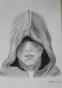 erkek portre sanat karakalem
