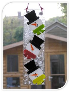 My first Pin! Fused glass snowman hanger from First Glass Creations.