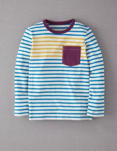 Stripy Pocket T-shirt