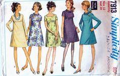 Simplicity 7913 Vintage maternity pattern (1968)