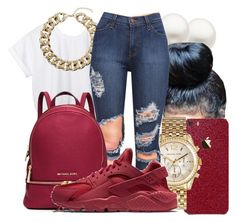 """""""."""" by honey-cocaine1972 ❤ liked on Polyvore featuring Reeds Jewelers, CC, Michael Kors, Topshop, MICHAEL Michael Kors and NIKE"""