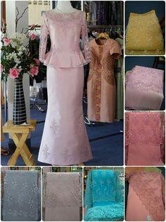 งานปอนด์ Model Kebaya, Thai Dress, Mother Of Groom Dresses, Muslim Dress, Brokat, Mom Dress, Camila, Traditional Outfits, Silk Dress
