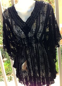 Cynababy // Black Lace Cover-Up Tunic