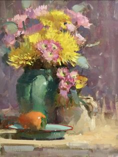 Oil painting - the living art! Painting Still Life, Still Life Art, Paintings I Love, Beautiful Paintings, Oil Painting App, Tulip Painting, Still Life Flowers, Floral Artwork, Bouquet