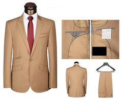 Handsome Men Tuxedos Suit Jacket and Pants Size XS-5XL Top Quality