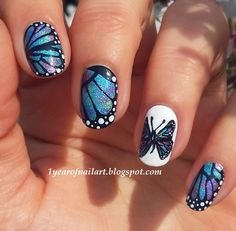 autism+butterfly+nail+art | Butterfly nails