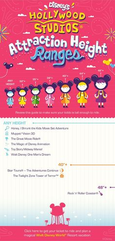 Travelling with children?  Check out the attraction height ranges for Disney's Hollywood Studios before you go!