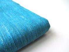 Blue superb quality raw Indian silk nr 470 van SilksByUmf op Etsy