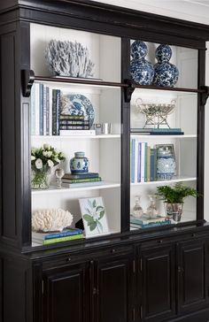 Library Bookcase Styling Shelfie Styling Blue and White Blue White and Green Interior Decorating Interior Styling Interior Design Hamptons Hamptons Style Decorating Bookshelves, Decorate Bookcase, Bookshelf Design, Bookcase Styling, Interior Decorating, Interior Design, Interior Styling, Decorating Tips, White Decor
