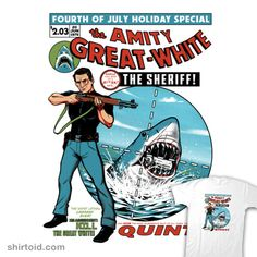 The Amity Great White #comic #comics #film #jaws #movie #ninjaink #quint #shark #timothylim