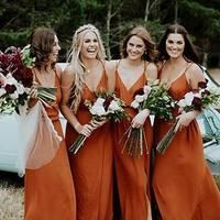 Spaghetti straps bridesmaid dresses,Burnt orange bridesmaid dresses,Beach wedding party bridesmaid · BellaBridal · Online Store Powered by Storenvy Burnt Orange Bridesmaid Dresses, Burnt Orange Weddings, Beach Bridesmaid Dresses, Burnt Orange Dress, Red Wedding Dresses, Beach Dresses, Wedding Bridesmaids, Wedding Colors, Wedding Gowns