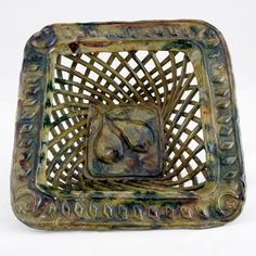 Antique Turkish 'Canakkale' pottery tray. An acquired taste but a personal favourite