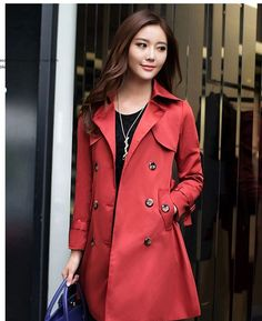 bdcf2e24b3 Women's Classic All-Weather Slim Fit Trench Coat | Winter Clothes Winter  Trench Coat,